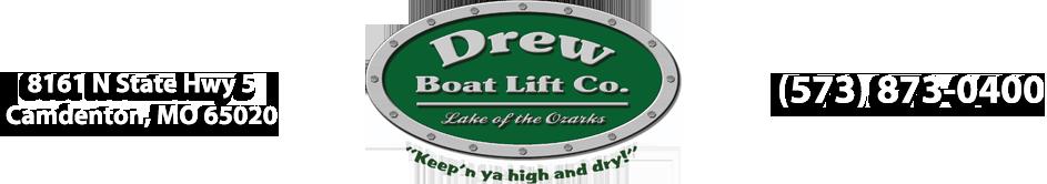 Boat Lifts Camdenton Missouri 65020 | Drew Boat Lift | PWC Lifts | (573) 873-0400